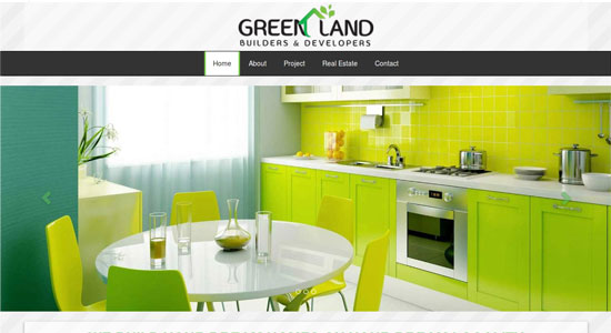 Website Design Portfolio - Greenland Builders