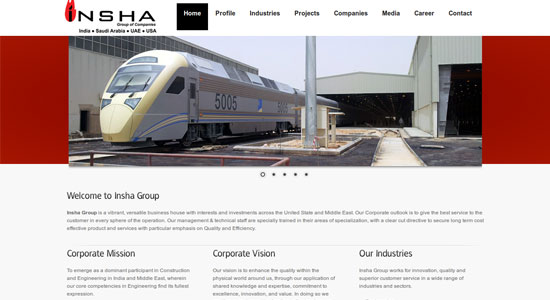 Website Design Portfolio - Insha Group