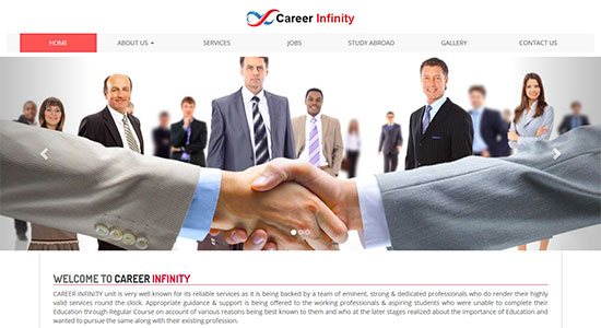 Website Design Portfolio - Career Infinity
