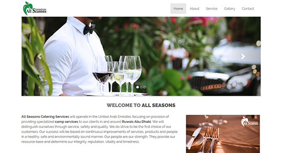 Website Design Portfolio - All Seasons