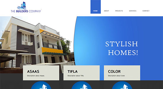 Website Design Portfolio - The Builders Company